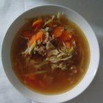 Marhahúsos, káposztás zöldséges véletlen leves